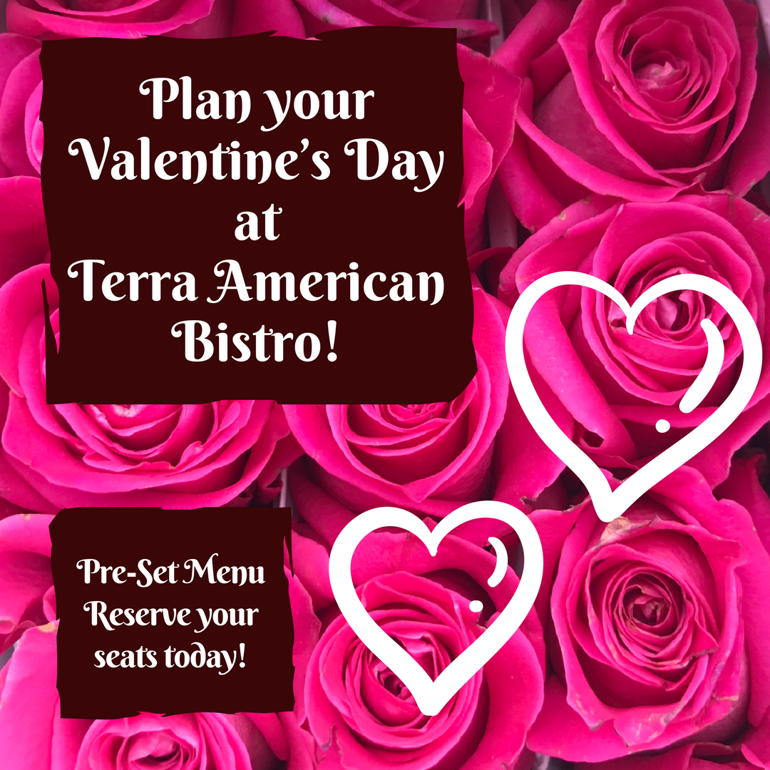 graphic and button - plan your valentines day at Terra