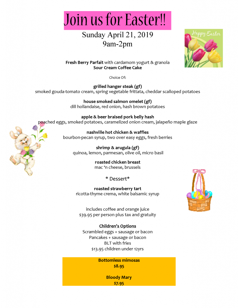 Easter Menu and Link to Accessible Menu
