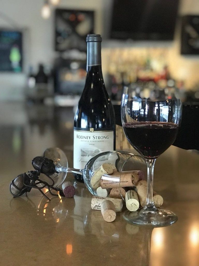 Wine bottle on bar