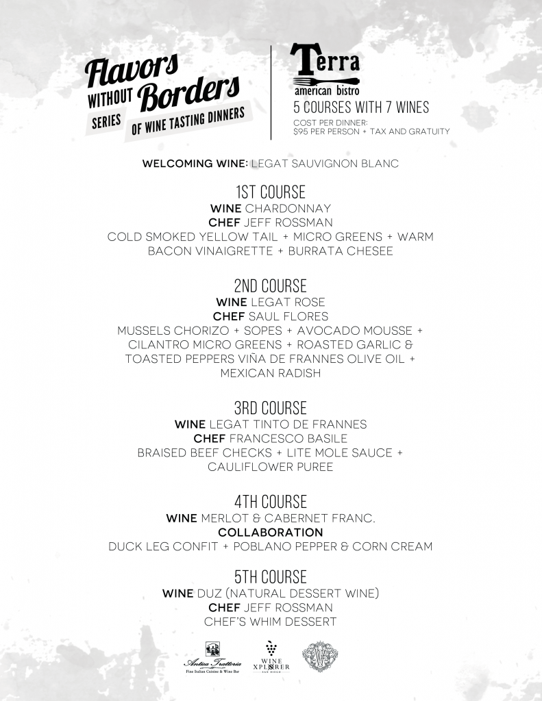 Flavors Without Borders Menu