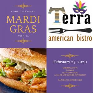 Clebrate Mardi Gras at Terra 2/25/20